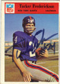 TUCKER FREDERICKSON NEW YORK GIANTS AUTOGRAPHED VINTAGE ROOKIE FOOTBALL CARD #22615M