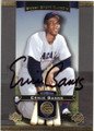 ERNIE BANKS CHICAGO CUBS AUTOGRAPHED BASEBALL CARD #22715C