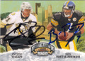 EVGENI MALKIN & BEN ROETHLISBERGER PITTSBURGH PENGUINS AND STEELERS DOUBLE AUTOGRAPHED CARD #22715i