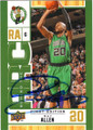 RAY ALLEN BOSTON CELTICS AUTOGRAPHED BASKETBALL CARD #22715L