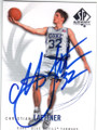 CHRISTIAN LAETTNER DUKE BLUE DEVILS AUTOGRAPHED BASKETBALL CARD #30215B