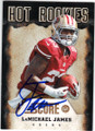 LaMICHAEL JAMES SAN FRANCISCO 49ers AUTOGRAPHED ROOKIE FOOTBALL CARD #30215G