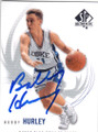 BOBBY HURLEY DUKE UNIVERSITY BLUE DEVILS AUTOGRAPHED BASKETBALL CARD #30215K