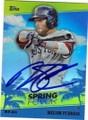 DUSTIN PEDROIA BOSTON RED SOX AUTOGRAPHED BASEBALL CARD #30215M