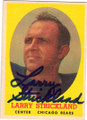 LARRY STRICKLAND CHICAGO BEARS AUTOGRAPHED VINTAGE FOOTBALL CARD #30315A