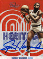 SPENCER HAYWOOD NEW YORK KNICKS AUTOGRAPHED BASKETBALL CARD #30315C