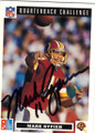 MARK RYPIEN WASHINGTON REDSKINS AUTOGRAPHED FOOTBALL CARD #30315E