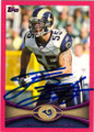 JAMES LAURINAITIS ST LOUIS RAMS AUTOGRAPHED & NUMBERED BASEBALL CARD #30515C