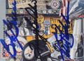 BOB GRIESE, TERRY BRADSHAW & KEN STABLER TRIPLE AUTOGRAPHED FOOTBALL CARD #30915A
