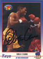 OBA CARR AUTOGRAPHED BOXING CARD #30915C