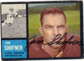 JIM SHOFNER CLEVELAND BROWNS AUTOGRAPHED VINTAGE FOOTBALL CARD #31015B