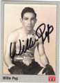 WILLIE PEP AUTOGRAPHED BOXING CARD #31115H