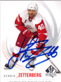 HENRIK ZETTERBERG DETROIT RED WINGS AUTOGRAPHED HOCKEY CARD #31115i