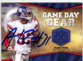 AARON ROSS NEW YORK GIANTS AUTOGRAPHED PIECE OF THE GAME FOOTBALL CARD #31115K
