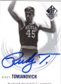 RUDY TOMJANOVICH MICHIGAN WOLVERINES AUTOGRAPHED BASKETBALL CARD #31115N