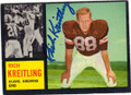 RICH KREITLING CLEVELAND BROWNS AUTOGRAPHED VINTAGE ROOKIE FOOTBALL CARD #31315B