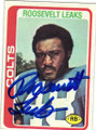 ROOSEVELT LEAKS BALTIMORE COLTS AUTOGRAPHED VINTAGE FOOTBALL CARD #31315D