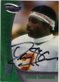 DEION SANDERS FLORIDA STATE SEMINOLES AUTOGRAPHED FOOTBALL CARD #31315J