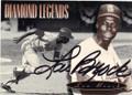 LOU BROCK ST LOUIS CARDINALS AUTOGRAPHED BASEBALL CARD #31415B