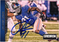 JUSTIN TUCK NEW YORK GIANTS AUTOGRAPHED FOOTBALL CARD #31415K