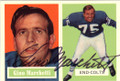GINO MARCHETTI BALTIMORE COLTS AUTOGRAPHED FOOTBALL CARD #31415N