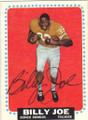 BILLY JOE DENVER BRONCOS AUTOGRAPHED VINTAGE ROOKIE FOOTBALL CARD #31615H
