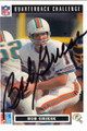BOB GRIESE MIAMI DOLPHINS AUTOGRAPHED FOOTBALL CARD #31615M