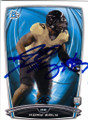 KONY EALY CAROLINA PANTHERS AUTOGRAPHED ROOKIE FOOTBALL CARD #31715B