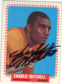 CHARLIE MITCHELL DENVER BRONCOS AUTOGRAPHED VINTAGE FOOTBALL CARD #31815E