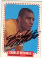 CHARLIE MITCHELL DENVER BRONCOS AUTOGRAPHED VINTAGE FOOTBALL CARD #31815E