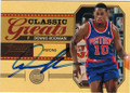 DENNIS RODMAN DETROIT PISTONS AUTOGRAPHED BASKETBALL CARD #31915C