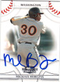 MICHAEL BURGESS WASHINGTON NATIONALS AUTOGRAPHED ROOKIE BASEBALL CARD #31915G