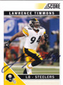 LAWRENCE TIMMONS PITTSBURGH STEELERS AUTOGRAPHED FOOTBALL CARD #32015G