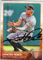 HUNTER PENCE SAN FRANCISCO GIANTS AUTOGRAPHED BASEBALL CARD #32115B