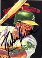 RUBEN SIERRA OAKLAND ATHLETICS AUTOGRAPHED BASEBALL CARD #32215D