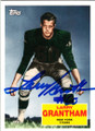 LARRY GRANTHAM NEW YORK TITANS AUTOGRAPHED FOOTBALL CARD #32215J