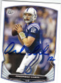 ANDREW LUCK INDIANAPOLIS COLTS AUTOGRAPHED FOOTBALL CARD #32315D