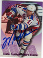 MARK MESSIER NEW YORK RANGERS AUTOGRAPHED HOCKEY CARD #32315i