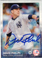 DAVID PHELPS NEW YORK YANKEES AUTOGRAPHED BASEBALL CARD #32315J