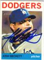 JOSH BECKETT LOS ANGELES DODGERS AUTOGRAPHED BASEBALL CARD #32315K