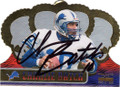 CHARLIE BATCH DETROIT LIONS AUTOGRAPHED FOOTBALL CARD #32415C