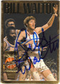 BILL WALTON PORTLAND TRAIL BLAZERS AUTOGRAPHED BASKETBALL CARD #32415E