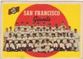 SAN FRANCISCO GIANTS VINTAGE TEAM CARD #32415J