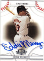 EDDIE MURRAY BALTIMORE ORIOLES AUTOGRAPHED BASEBALL CARD #32615B