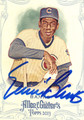 ERNIE BANKS CHICAGO CUBS AUTOGRAPHED BASEBALL CARD #32615C