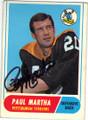 PAUL MARTHA PITTSBURGH STEELERS AUTOGRAPHED VINTAGE FOOTBALL CARD #32715M