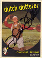 DUTCH DOTTERER CINCINNATI REDLEGS AUTOGRAPHED VINTAGE BASEBALL CARD #32715N