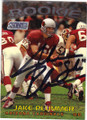 JAKE PLUMMER ARIZONA CARDINALS AUTOGRAPHED ROOKIE FOOTBALL CARD #32715O