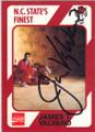 JIMMY VALVANO NORTH CAROLINA STATE AUTOGRAPHED BASKETBALL CARD #33115C