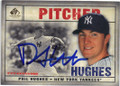 PHIL HUGHES NEW YORK YANKEES AUTOGRAPHED BASEBALL CARD #33115G